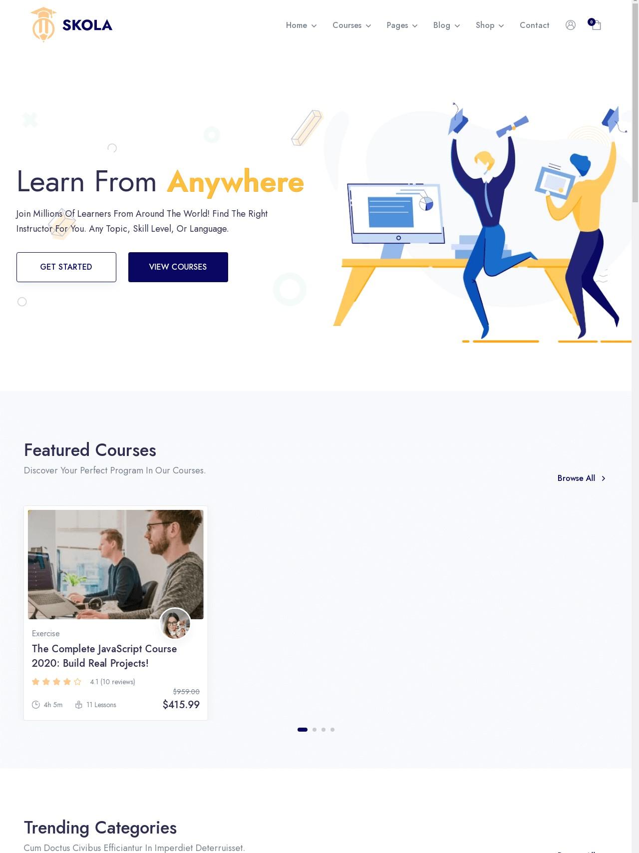 Skola  LMS Online Courses WordPress Theme