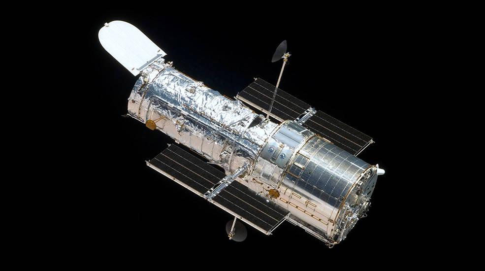 O Hubble em órbita