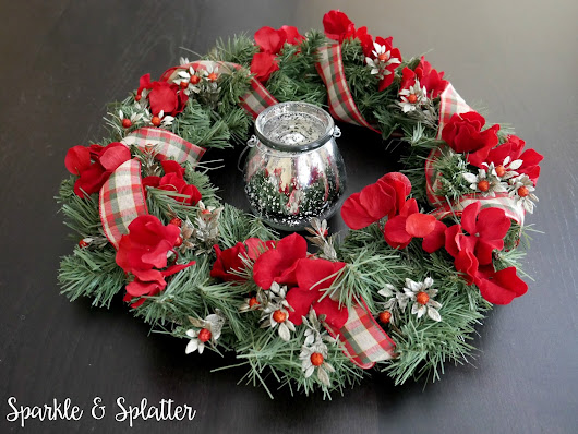 15 Minute Holiday Centerpiece Wreath (with video!)