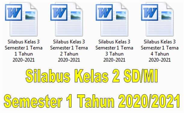 Silabus Kelas 2 SD/MI Semester 1 Tahun 2020/2021 - Guru Krebet 3