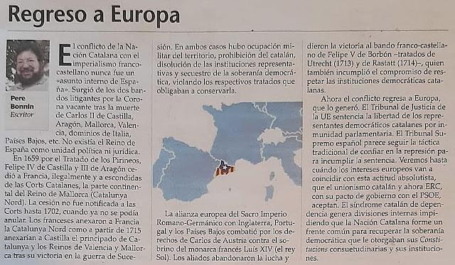 Pere Bonnín, escritor, regreso a Europa