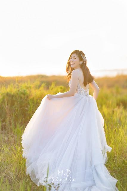 輕婚紗方案 國內婚紗 浪漫風格 海邊夕陽婚紗 陽明山 逆光婚紗 台北婚紗推薦 輕新文青
