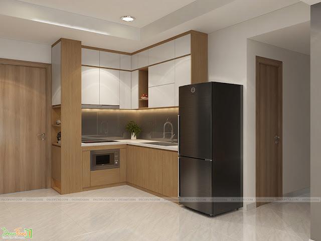 Thiết kế và thi công nội thất căn hộ chung cư Celadon City quận Tân Phú - Phòng bếp