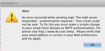bt mail sending problem