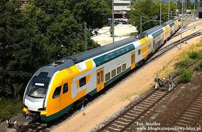 Piętrowy elektryczny zaspół trakcyjny KISS przeznaczony dla niemieckiego przewoźnika ODEG (Ostdeutsche Eisenbahn GmbH)