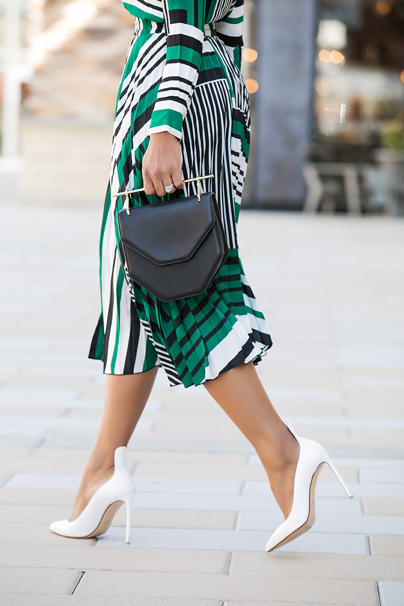 work style in pleated skirt, www.jadore-fashion.com