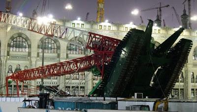 Video Detik-detik Crane Terjatuh di Mekah