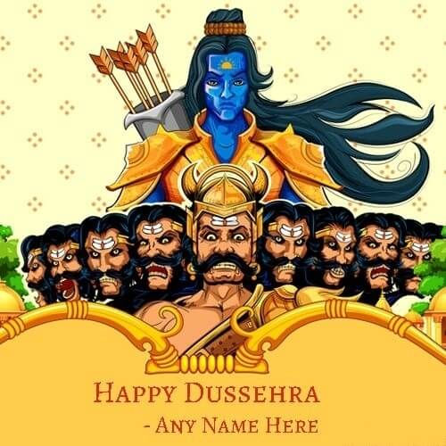 10+ Happy Dussehra Images Greeting Cards Name 2020