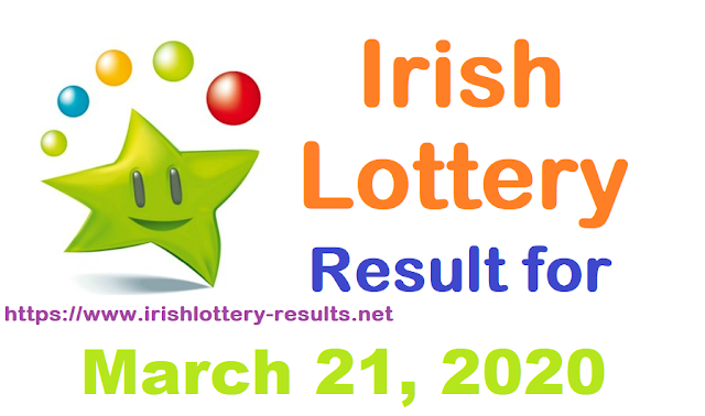Irish Lottery Results for Saturday, March 21, 2020