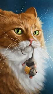 Cat Mobile HD Wallpaper
