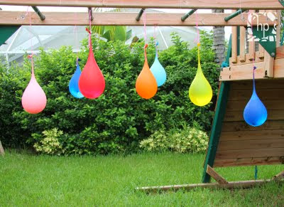 Water-Balloon-Pinata-Obstacle from Scrap Happy Heather.