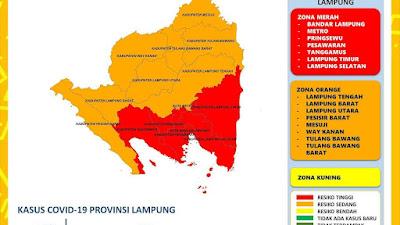 Lampung Selatan Masuk Zona Merah Covid-19