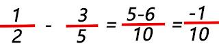 resta de dos fracciones haciendo uso de la clase fraccion.java