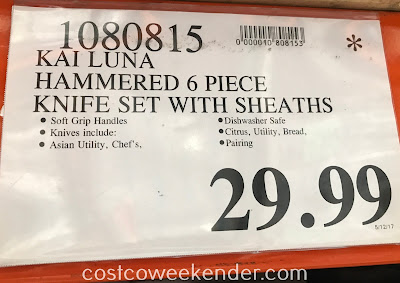Deal for the Kai Luna Hammered Finish 6-piece Knife Set with Sheaths at Costco