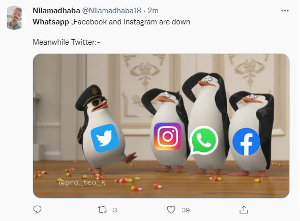 Whatsapp ,Facebook and Instagram are down
