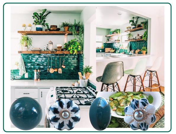 boutons de meubles vert unis; boutons de meubles ethnique
