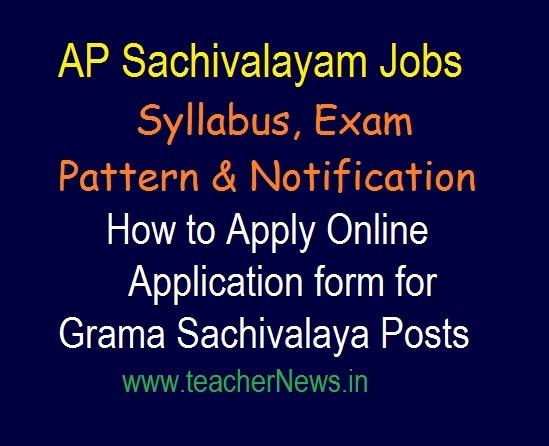 Grama Sachivalaya Jobs Syllabus, Exam Pattern 2019 | Selection Process in Telugu