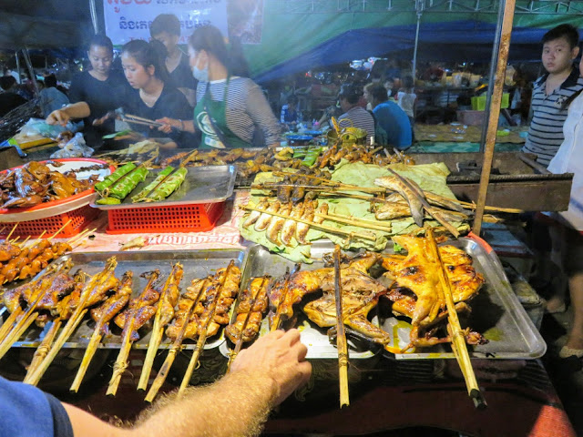 BBQ at the Psa Plaew 60 night market in Siem Reap Cambodia