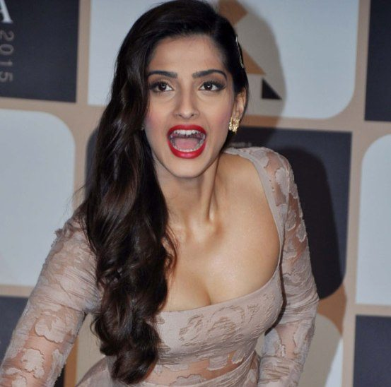 Sonam Kapoor hot cleavage still