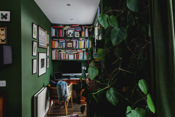 Such a cozy spot and that pothos is #goals!