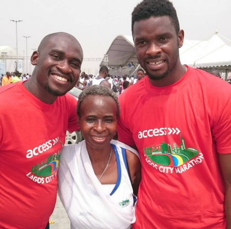 68 year old Nigerian woman runs lagos 42km marathon.