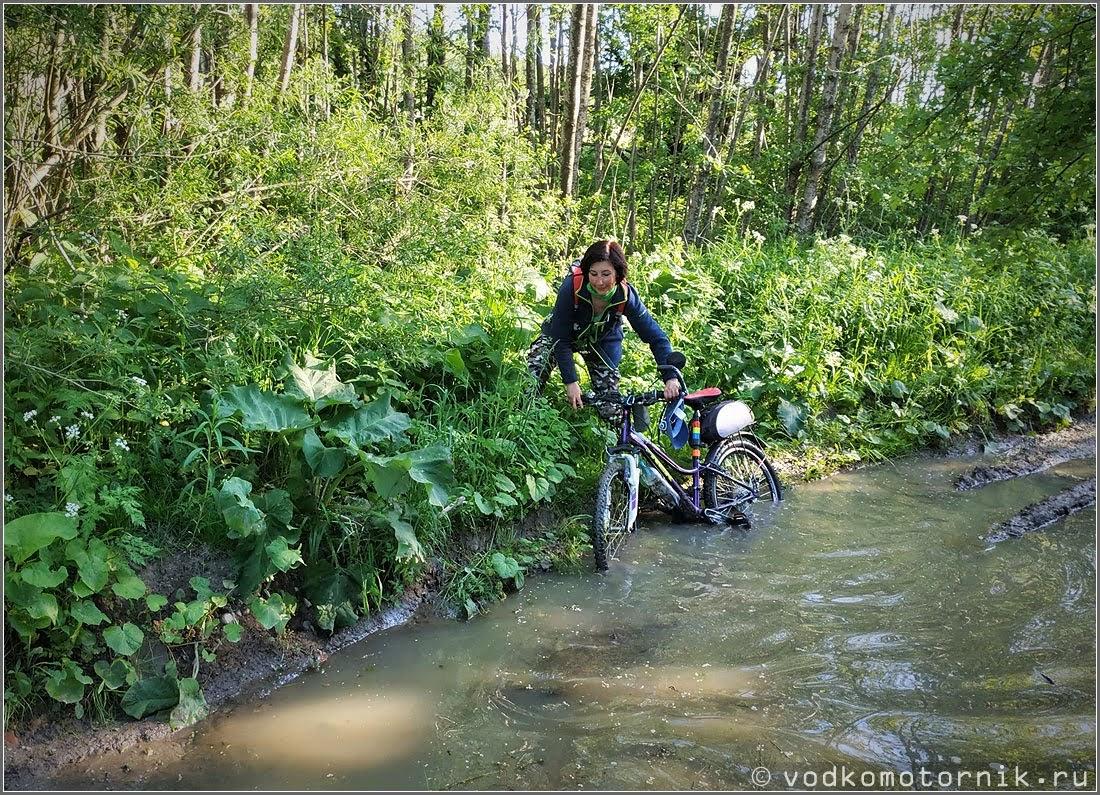 Купание уставшего велосипеда