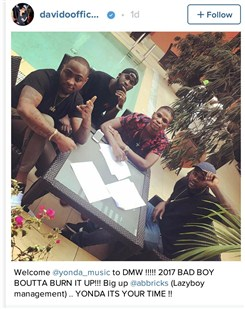 davido-signs-new-artist-yonda