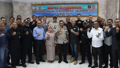 HUT Satpam Ke 39 Polres cilegon Laksanakan Kegiatan Rapat Koordinasi Dengan BUJP