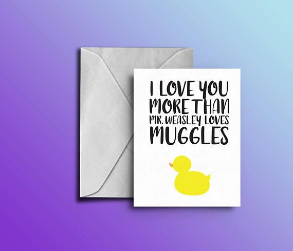 Harry Potter Valentine's Day Card Fairy Nerdy
