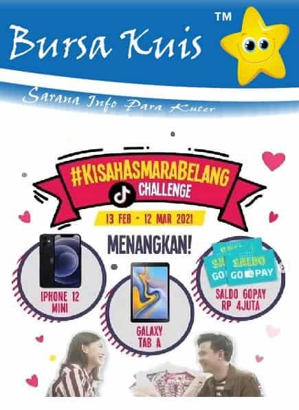 Kuis Online Promo Permen Blaster Kisah Asmara Belang Berhadiah iphone 12 Mini