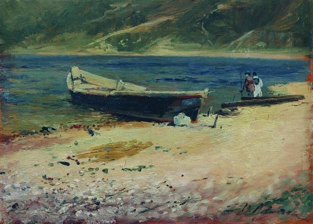 Исаак Ильич Левитан - Лодка на берегу. 1880-е