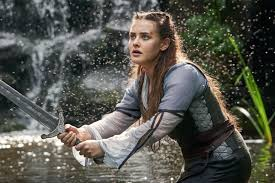 Nimue played by Katherine Langford, from the Arthurian legend drama Cursed
