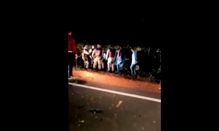 Batida entre dois carros deixa quatro feridos na Chapada Diamantina