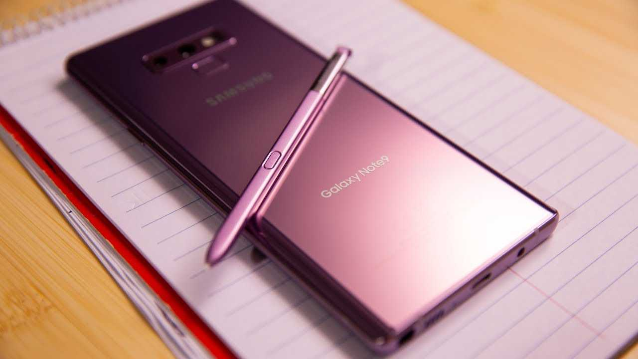 The Galaxy Note 9 S-Pen