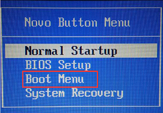 Menu Boot USB