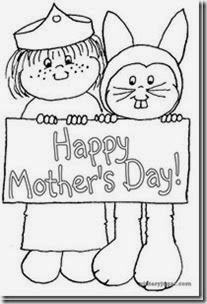 Colorear dibujos Happy mothers Day