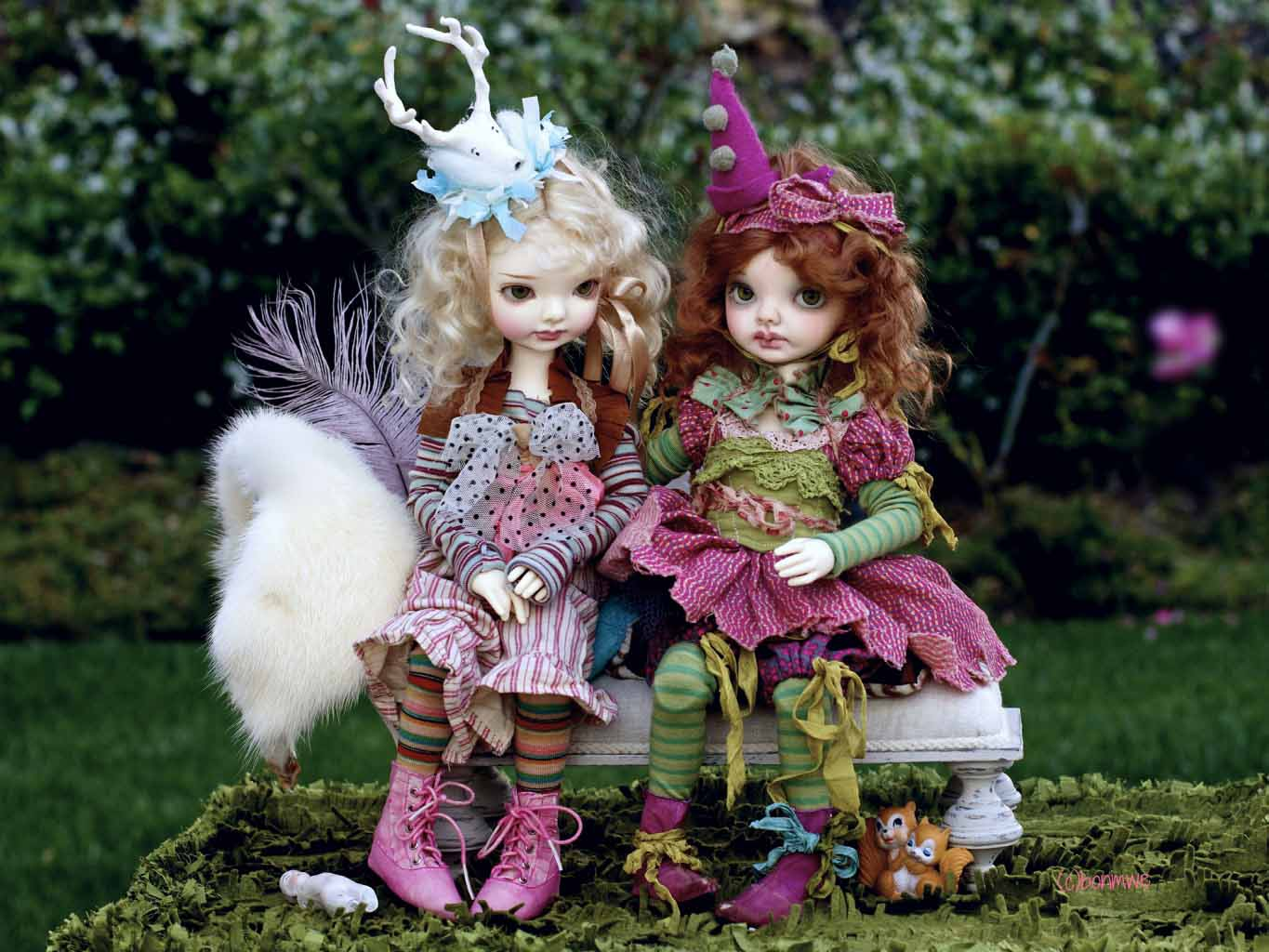 Pair Of Cute Toys Hd Wallpaper: HD Wallpapers: Toys Doll Wallpapers