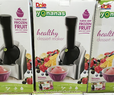 Make delicious and healthier desserts with the Yonanas Healthy Frozen Dessert Maker