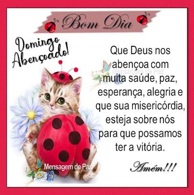 Domingo Abençoado! Que Deus nos abençoa com  muita saúde, paz, esperança, alegria  e que sua misericórdia, esteja sobre nós  para que possamos ter a vitória.  Amém! Bom Dia!