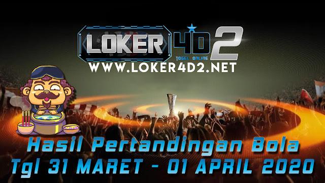 HASIL PERTANDINGAN BOLA 31 MARET – 01 APRIL 2020
