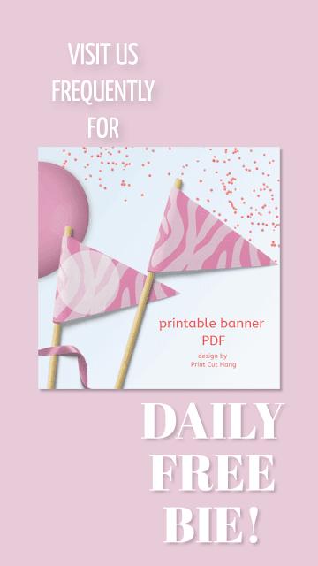 Daily Freebie Zebra Pennants