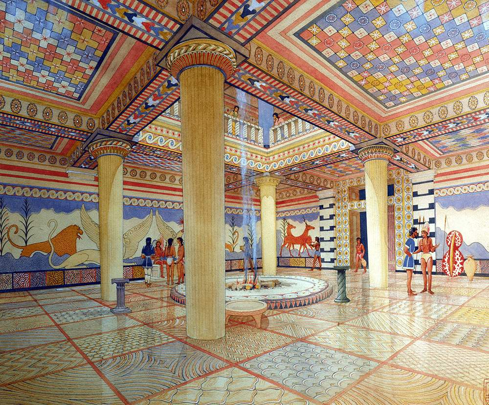 Inside Minoan building