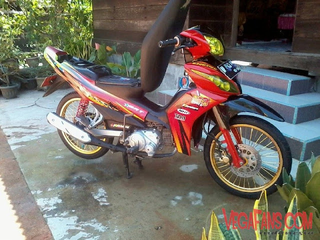 Modifikasi Jupiter Z New Merah Modif Standar Simple