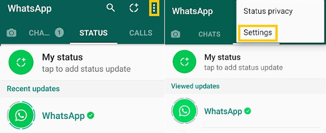 ICT Link-Up-Whatsapp-Text-status-Back-Android-3dots-settings