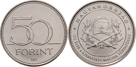 Hungary 50 forint 2020 - 150 years of Organised Fire Departments