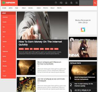 AMP News Blogger Template Keren - kanalmu