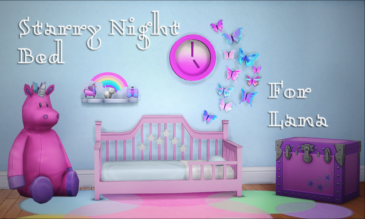 My Sims 4 Blog: Starry Night Toddler Bed Frame by Teanmoon