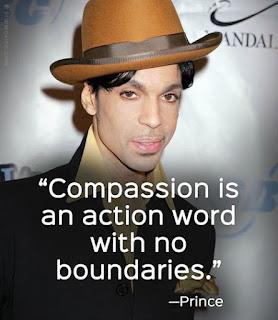 Frase de Prince: A compaixão é uma palavra de ordem que não tem limites
