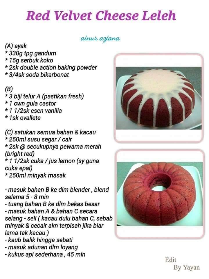 resepi red velvet cheese leleh