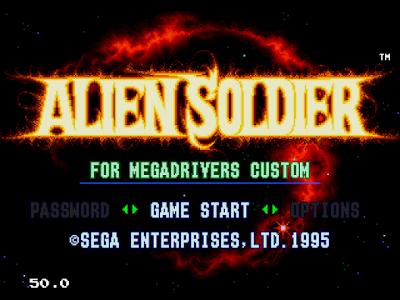 【MD】異型風暴(Alien.Soldier)原版+Hack不死版,戰斧科幻未來版!